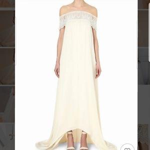 💒👰Self Portrait Bardot guipure lace wedding gown